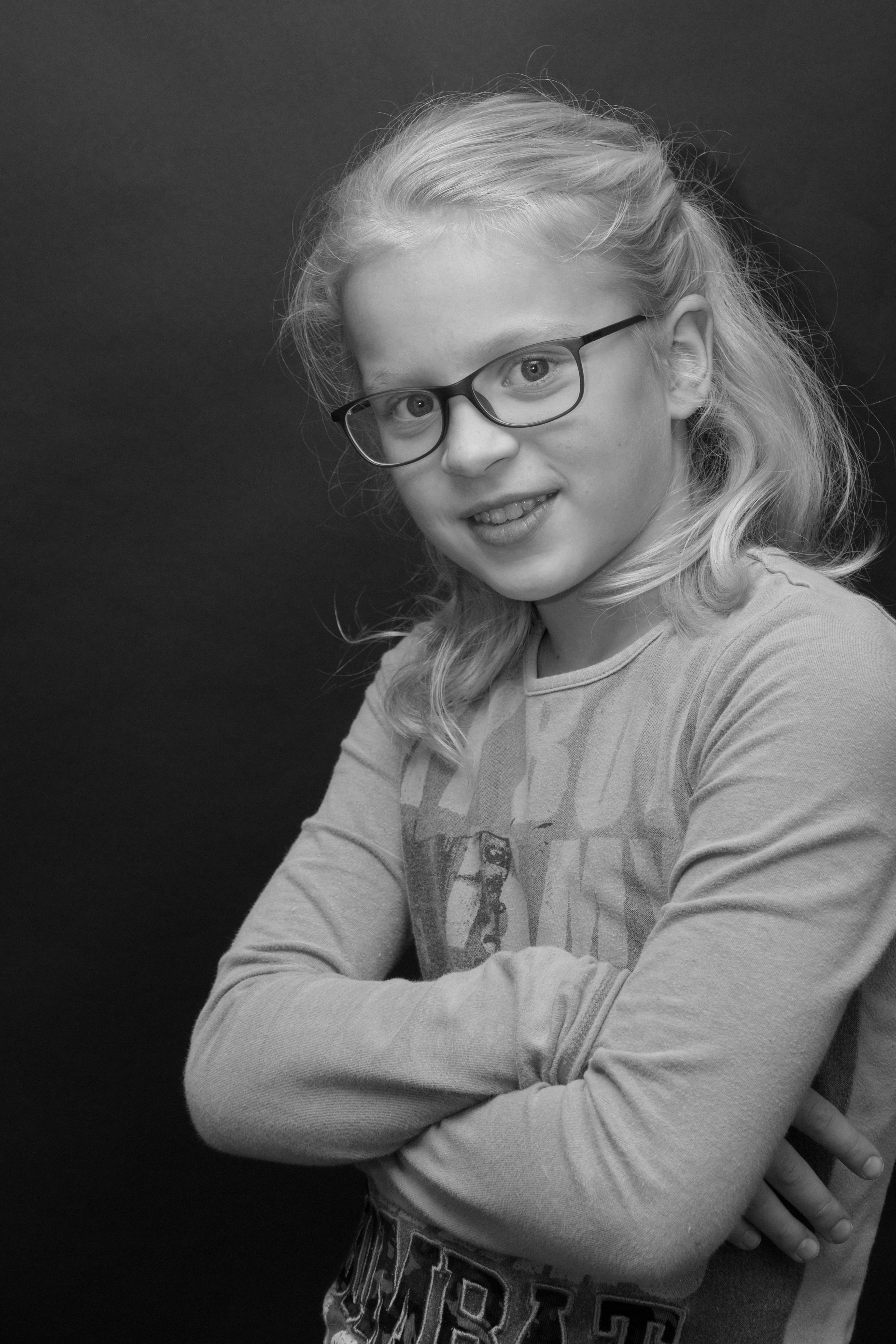 Zwart wit foto van Meike